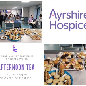 Booth Welsh Go Purple for Ayrshire Hospice