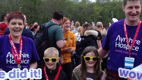Take on the Kiltwalk for the Ayrshire Hospice